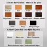 Taburete de madera SALAMANCA Ref. 268 - Colores para pintar el taburete