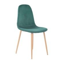 silla nórdica ÉPOCA terciopelo verde