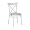 alt= silla REINA de plástico con asiento tapizado