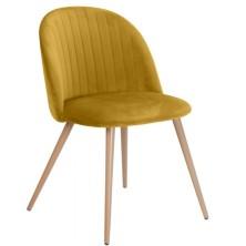 alt= silla nórdica CONCHA terciopelo