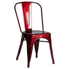 alt= silla Tolix metalizada