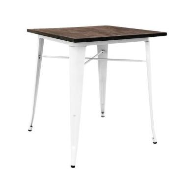 mesa Tolix madera oscura