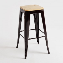 alt= taburete Tolix asiento madera